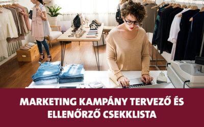 Marketing kampány tervező és ellenőrző csekklista